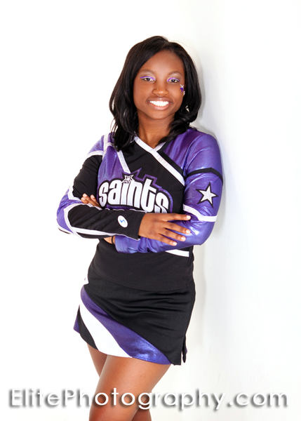 Most Valuable Cheerleader Courtney Neal of the CWS Saints