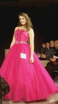 Strapless Pink Ball Gown Dress