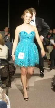 Short Blue Sparkly Prom Dress 2011